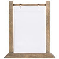 Menu Solutions WFT4S-B 5 inch x 7 inch Antiqued Wood Flip Top Table Tent