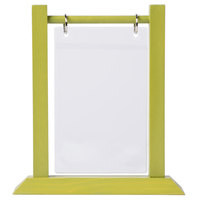 Menu Solutions WFT4S-A 4 inch x 6 inch Lime Wood Flip Top Table Tent