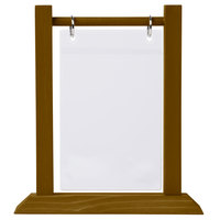 Menu Solutions WFT4S-A 4 inch x 6 inch Walnut Wood Flip Top Table Tent - 2/Pack