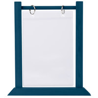 Menu Solutions WFT4S-B 5 inch x 7 inch Denim Wood Flip Top Table Tent