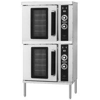 Hobart HGC202 Liquid Propane Double Deck Half Size Convection Oven - 50,000 BTU