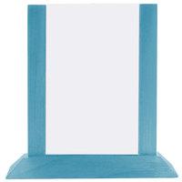 Menu Solutions WPF4S-B 5 inch x 7 inch Sky Blue Wood Table Tent
