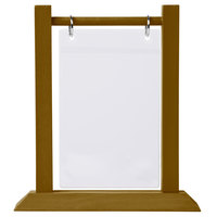 Menu Solutions WFT4S-B 5 inch x 7 inch Walnut Wood Flip Top Table Tent