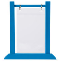 Menu Solutions WFT4S-A 4 inch x 6 inch True Blue Wood Flip Top Table Tent - 2/Pack