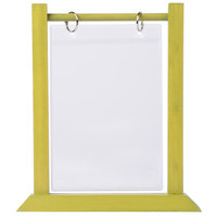 Menu Solutions WFT4S-B 5 inch x 7 inch Lime Wood Flip Top Table Tent