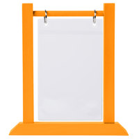 Menu Solutions WFT4S-A 4 inch x 6 inch Mandarin Wood Flip Top Table Tent