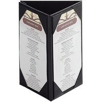 Menu Solutions TT36 4 inch x 6 inch Triple Panel Table Tent with Picture Corners