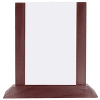 Menu Solutions WPF4S-A 4 inch x 6 inch Mahogany Wood Table Tent