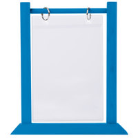 Menu Solutions WFT4S-B 5 inch x 7 inch True Blue Wood Flip Top Table Tent