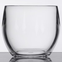GET SW-1460-CL 8 oz. Customizable Clear Plastic Stemless Wine Glass - 24/Case