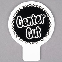 Deli Tag Topper - CENTER CUT - Black