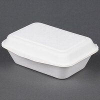 EcoChoice Biodegradable, Compostable Sugarcane / Bagasse 7 inch x 5 inch X 2 1/2 inch Takeout Box - 125 / Pack