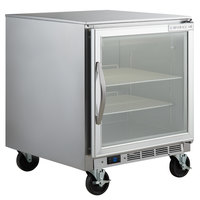 Beverage-Air UCF27A-25-LED 27 inch Undercounter Freezer with Glass Door - 7.3 Cu. Ft.