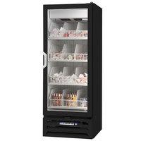 Beverage Air MMF12-1-B-LED 24 inch Black MarketMax Glass Door Merchandiser Freezer with Swing Door - 12 Cu. Ft.