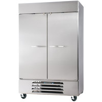 Beverage Air HBR44HC-1-S 47 inch Horizon Series Two Section Solid Door Reach in Refrigerator with LED Lighting