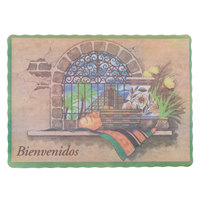 10 inch x 14 inch Mexican Themed Paper Placemat with Scalloped Edge   - 1000/Case