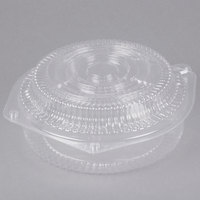 Polar Pak 03135 8 inch Clear Hinged OPS Pie Container with High Dome Lid - 10/Pack