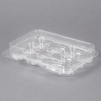 Polar Pak 02200 12 Compartment Clear OPS Hinged Cupcake / Mini Muffin Container - 20/Pack