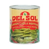 Del Sol #10 Can Whole Green Chile Peppers - 6/Case