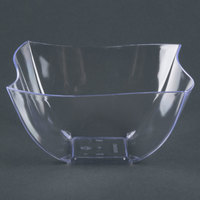 Fineline Wavetrends / Tiny Temptations 180-CL 8 oz. Clear Plastic Bowl - 80 / Case
