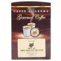 Caffe de Aroma Decaf Breakfast Blend Coffee Single Serve Cups - 24/Box