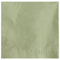 Choice 10 inch x 10 inch Sage 2-Ply Beverage / Cocktail Napkins - 250/Pack