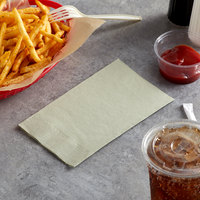 Choice 15 inch x 17 inch Customizable Sage 2-Ply Paper Dinner Napkin - 125/Pack