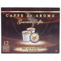 Caffe de Aroma Decaf Hazelnut Coffee Single Serve Cups   - 12/Box