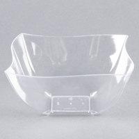 Fineline Wavetrends / Tiny Temptations 116-CL 16 oz. Clear Plastic Bowl - 4/Pack