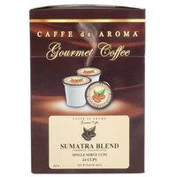 Caffe de Aroma Sumatra Blend Coffee Single Serve Cups - 24/Box