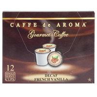 Caffe de Aroma Decaf French Vanilla Coffee Single Serve Cups - 12/Box