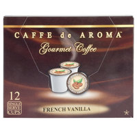 Caffe de Aroma French Vanilla Coffee Single Serve Cups - 12/Box