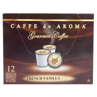 Caffe de Aroma French Vanilla Coffee Single Serve Cups - 12/Box