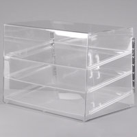 Cal-Mil 1202 Classic Three Tier Pastry Display Case with Rear Door - 27 inch x 20 inch x 20 inch