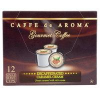 Caffe de Aroma Decaf Caramel Cream Coffee Single Serve Cups - 12/Box