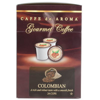 Caffe de Aroma Colombian Supreme Coffee Single Serve Cups - 24/Box
