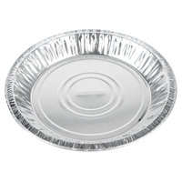 Baker's Mark 9 5/8 inch x 1 3/16 inch Deep Foil Pie Pan - 125/Pack