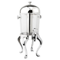 Eastern Tabletop 7552 Queen Anne 2 Gallon Stainless Steel Mid / Max Beverage Dispenser with Acrylic Container