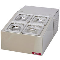 Wells RCTS-4 Self-Contained Refrigerated Countertop Server - Holds (4) 1/6 Size Food Pans