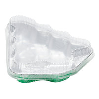 Durable Packaging 9501X-C50 Christmas Tree Foil Pan and Plastic Lid Combo Kit - 10/Pack