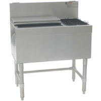 Eagle Group BCT42L-24 Spec-Bar 24 inch x 42 inch Combination Ice Chest with Left Hand Bottle Rack