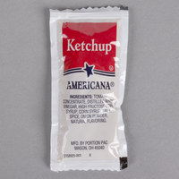 Americana Ketchup 9 Gram Portion Packet   - 500/Case