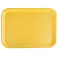 CKF 87942 (#10X14) Yellow Foam Meat Tray 14 inch x 10 inch x 3/4 inch - 100/Case