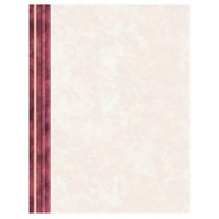 8 1/2 inch x 11 inch Menu Paper Left Insert - Ribbed Marble Border - 100/Pack