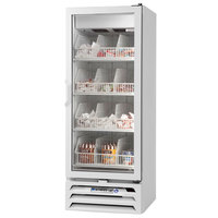 Beverage Air MMF12-1-W-LED 24 inch White MarketMax Glass Door Merchandiser Freezer with Swing Door - 12 Cu. Ft.