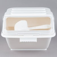 Baker's Mark 2.6 Gallon Shelf Ingredient Bin with 1/2 Cup Measuring Scoop