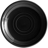 Tuxton CBE-060 Concentrix 6 inch Black China Saucer - 24/Case