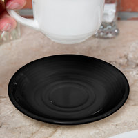 Tuxton CBE-060 Concentrix 6 inch Black China Saucer - 24/Case