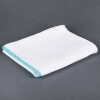 Choice 15 inch x 26 inch Blue-Striped 24 oz. Herringbone 100% Cotton Dish Towel - 12 / Pack