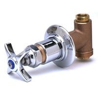 T&S 0RK2 Concealed Body Shut Off / Control Valve with Adjustable Wall Flange and Four Arm Handle